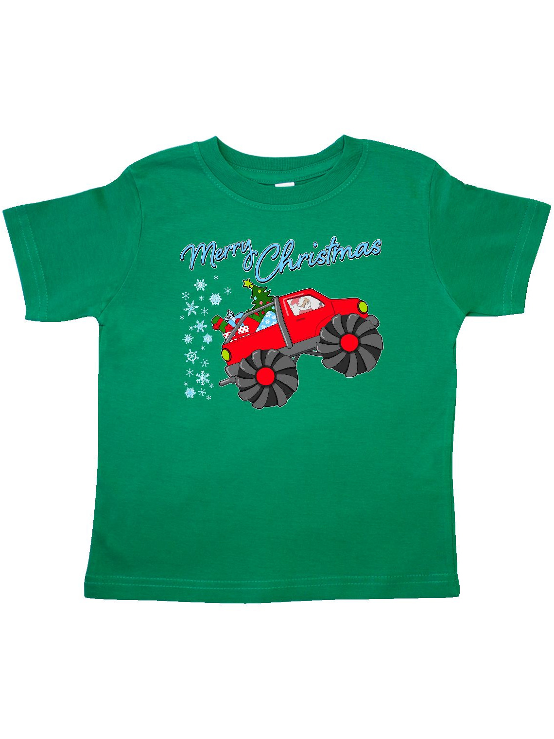 Merry Christmas- Santa drives a monster truck Toddler T-Shirt