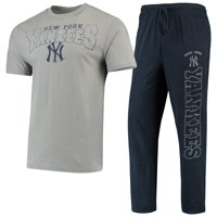 New York Yankees Concepts Sport Topic T-Shirt & Pants Sleep Set - Heathered Gray/Navy