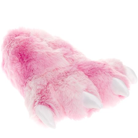 Wishpets Grizzly Pink Bear Animal Furry Fuzzy Soft Paw Claw Slippers Shoe - Furry Vans