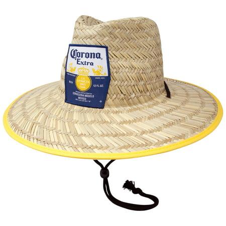 8881e6e45 Corona Extra Straw Lifeguard Beach Hat - Walmart.com