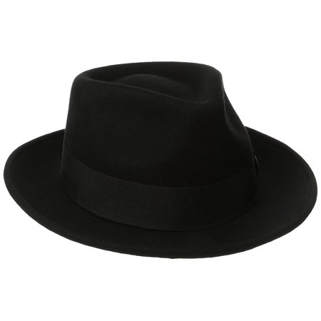 Classico Men s Crushable Water Repelant Wool Felt Fedora Hat 0a6fb51dc5f