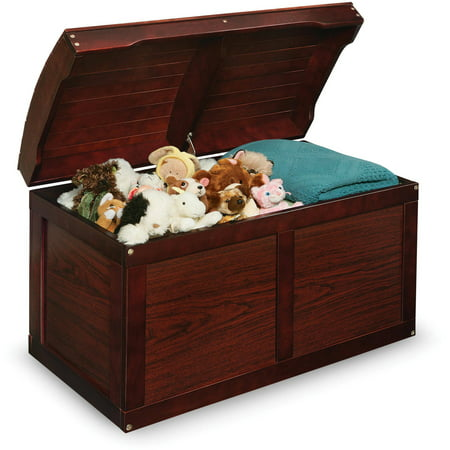 Badger Basket Hardwood Barrel Top Toy Chest, Multiple Colors - Chest Box