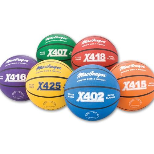 MacGregor Youth Basketball - Multicolor Rubber Indoor/Outdoor 2... Color: Yellow