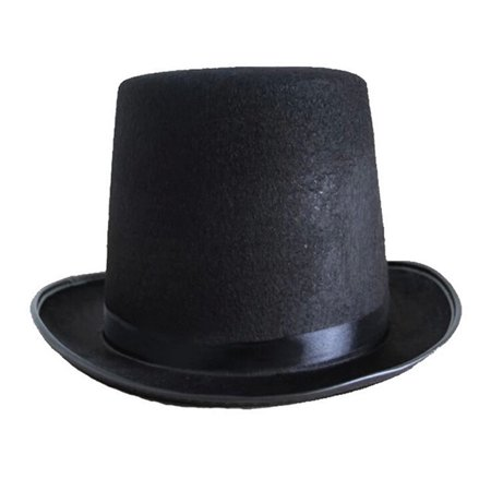 Felt Top Hat Fancy Dress Hat Magician Top Hat Costume Accessory (Black) - Top Fancy Dress Costumes