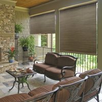 Radiance Crank Operated All Natural Bamboo Outdoor Sun Shade, Multiple Sizes