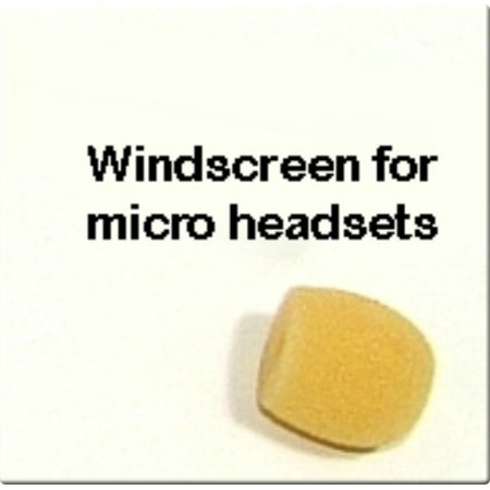 SP-MICRO-HEADSET-WS - Sound Professionals  - Single Micro Beige Windscreen For Micro Headsets