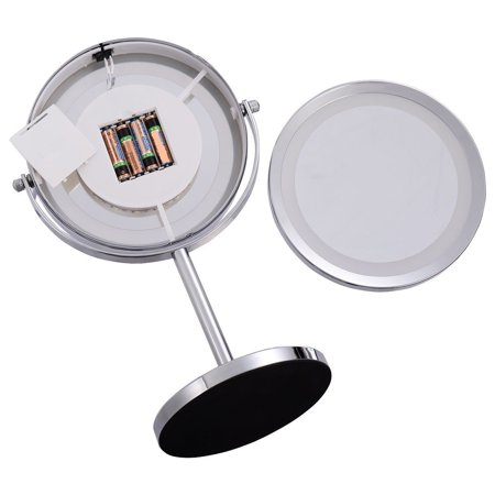 7 Double Sided Makeup Mirror 18 Led Lights 3x