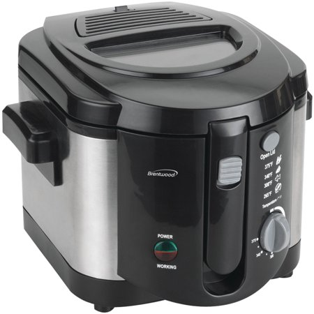 Brentwood DF-720 1200w 8-Cup Electric Deep Fryer, Stainless Steel