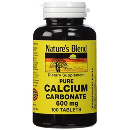 Nature's Blend Pure Calcium Carbonate 600 mg 100 Tabs ()
