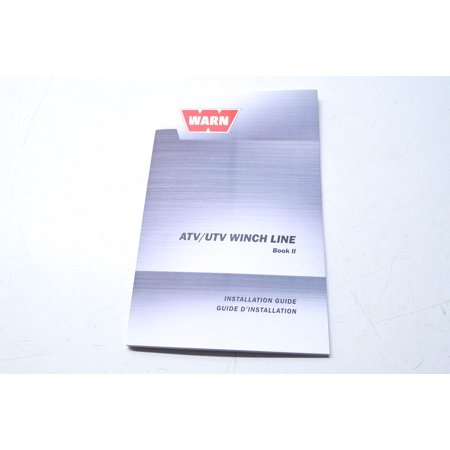 Warn 89847A0 ATV/UTV Winch Line Installation Guide Book 2 QTY 1