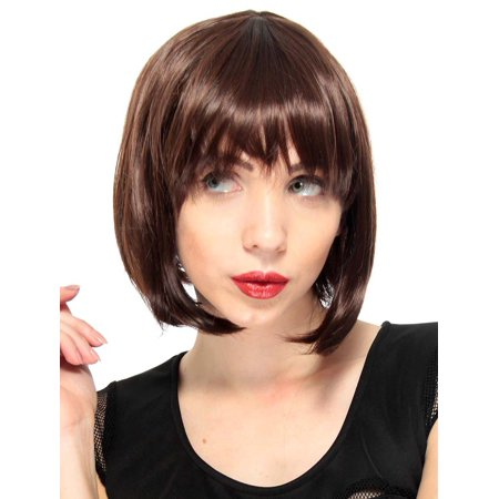Short Story Halloween Party (Simplicity Women's Full Short Straight Bob Wig Halloween Party Wigs,)