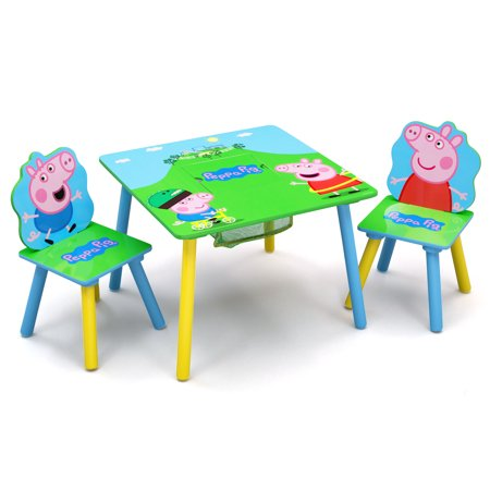Peppa Pig Wood Kids Storage Table And Chairs Set By Delta Children