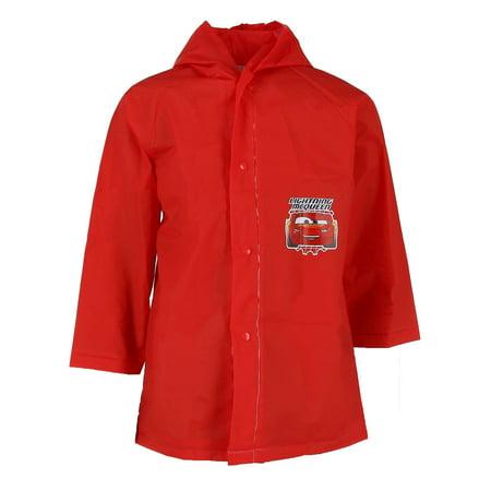 Mink Car Coat - Kid's Cars Lightning McQueen Rain Coat,  Red