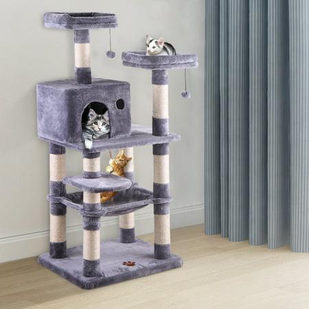 Jaxpety 58 Quot Pet Kitty Play House Cat Tree Tower Condo