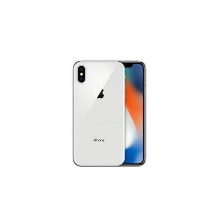 Refurbished Apple iPhone X 64GB, Silver - Sprint