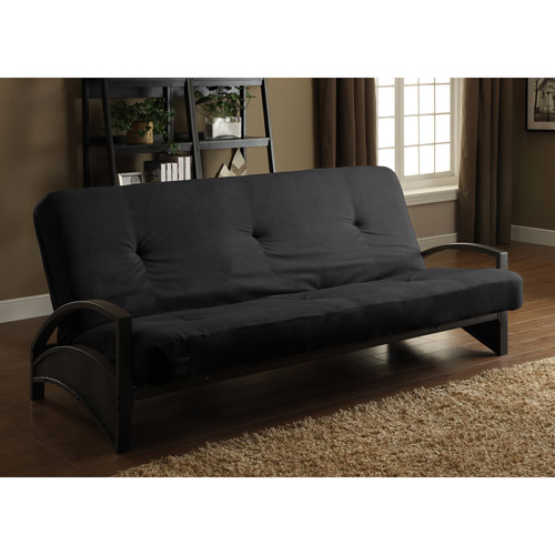 "Alessa Futon Frame with 6"" Innerspring Full Futon Mattress"