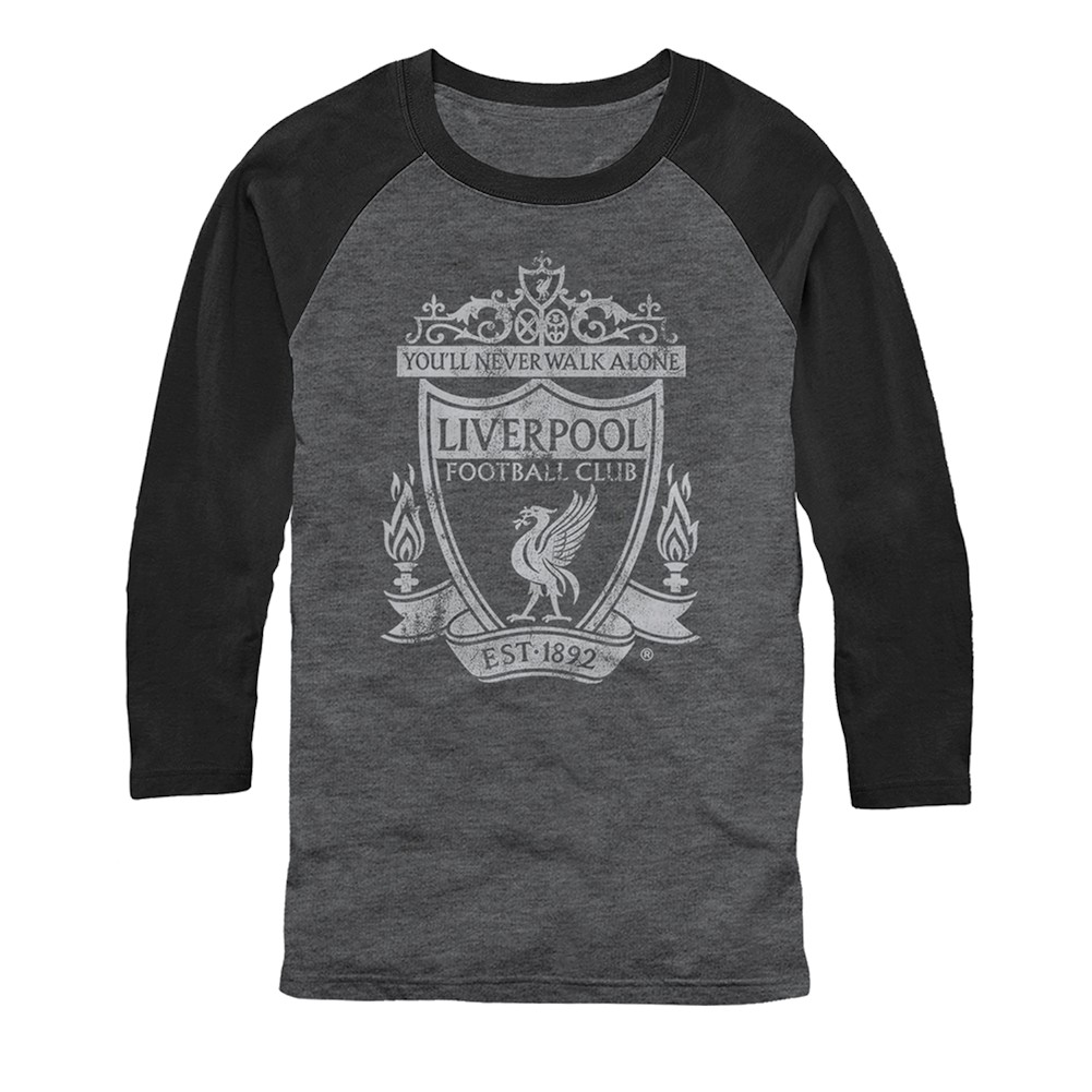 Unisex-Adult Soccer Tee English Football 3/4-Sleeve T-Shirt - Liverpool Fc The Reds