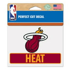 Miami Heat Official NBA 4 inch x 5 inch  Die Cut Car Decal by Wincraft
