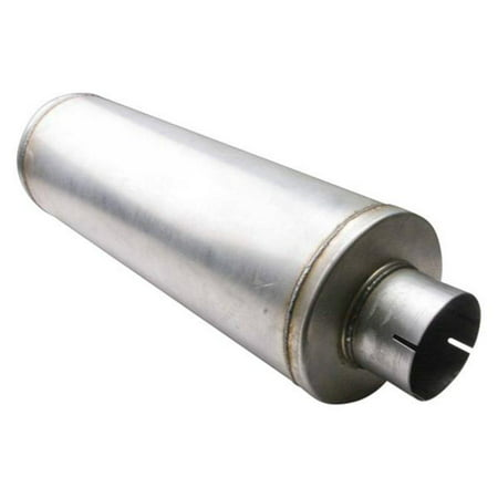 4' Aluminized Steel Dual Exhaust - different trends dtealm-407024-30 4 x 4 in. diesel series aluminized steel round bare exhaust muffler