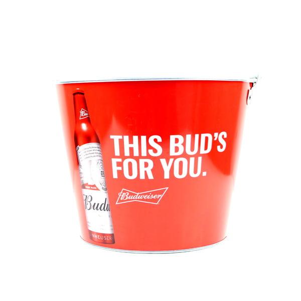 Brand new Budweiser Ice Bucket ¦ Red Grab Some Buds Design