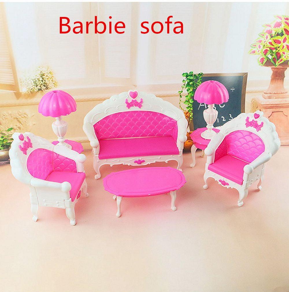 Grtsunsea 6PCS/Set Dollhouse Furniture Living Room Parlour Sofa Chair Set Toys For Doll