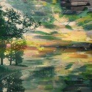Parvez Taj Lakeside Trees Art Print On Premium Canvas