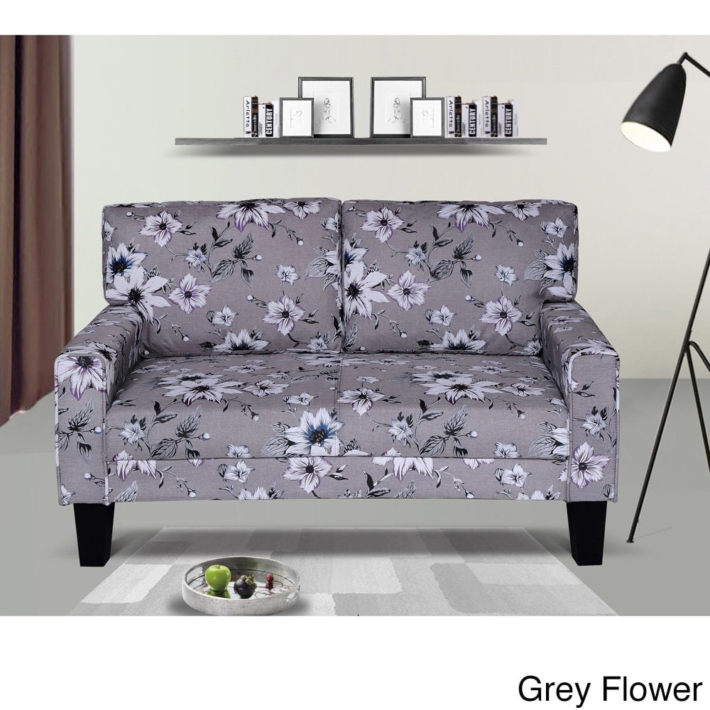 US Pride Furniture Fabric Modern Style Arm Loveseat