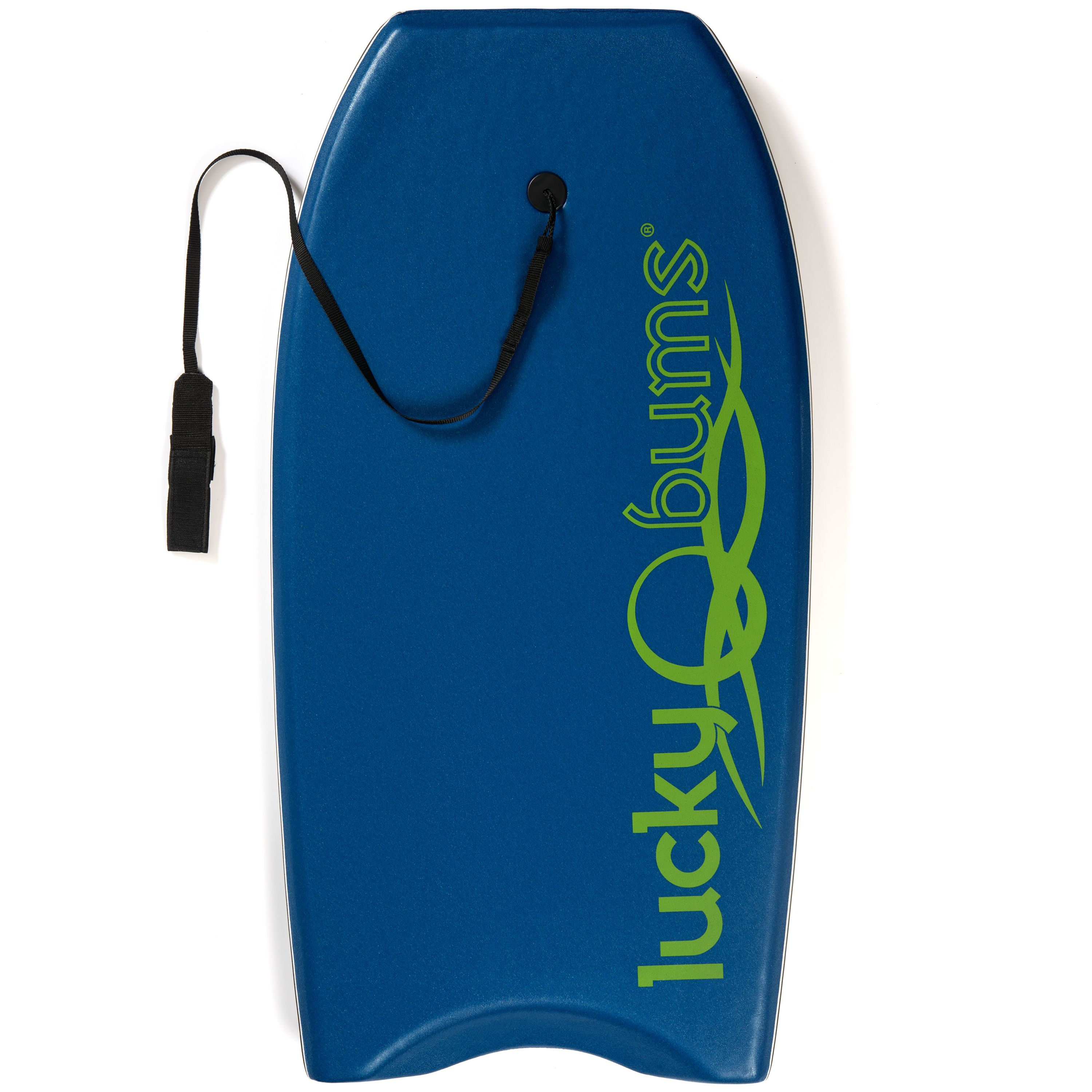Body Board by Lucky Bums with EPS Core Slick Bottom and Leash for Kids and Adults, Blue, 41-inch