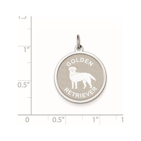 925 Sterling Silver en Retriever Disc (19x26mm) Pendant / Charm - image 2 de 2