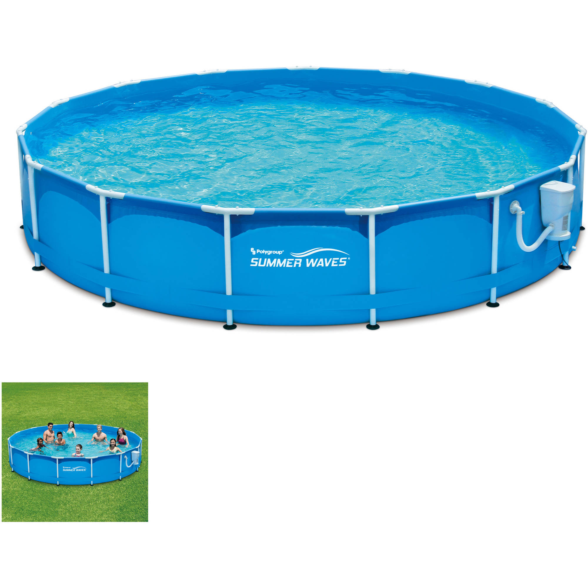 15' Metal Frame Pool Set by POLYGROUP LIMITED MACAO COMMERCIAL OFFSHORE