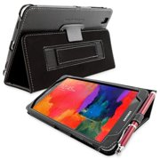 Snugg B00JAHG5OY Galaxy Tab PRO 8. 4 Case Cover and Flip Stand, Black Leather