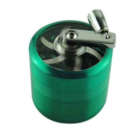 Fysho 40mm Tobacco Grinder Manual Metal 4 Layer Crusher Smoke Herbal Herb Mill Spice Crusher Kitchen