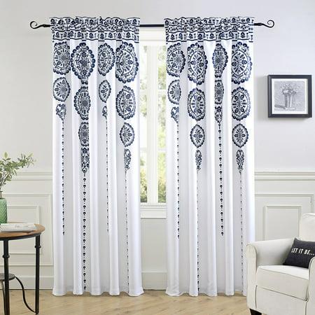 DriftAway Taylor Moroccan Cascading Medallion/Floral Room Darkening Window Curtains, 2 of 50