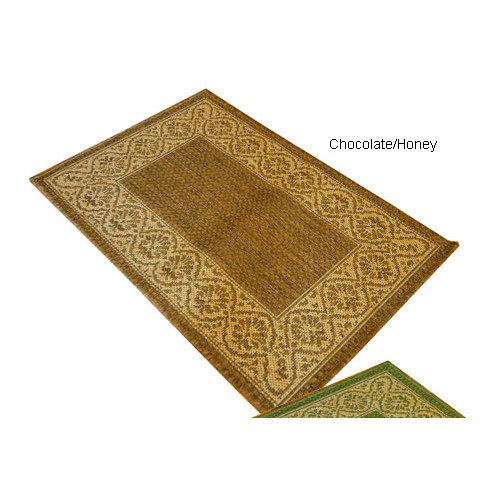 American Mills Wallpaper Scroll Brown/Tan Indoor/Outdoor Area Rug