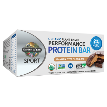 Garden of Life SPORT Bar, Peanut Butter Chocolate, 20g Protein, 12