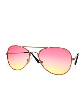 Children Metal Classic Aviator Ocean Lens Sunglasses P1302