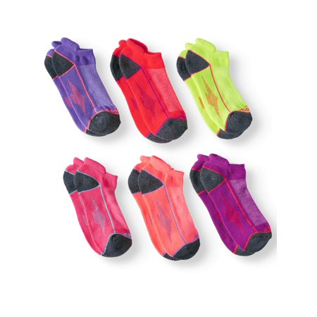 Ladies Cushioned Performance Low Cut Socks, 6 Pack