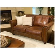 Paladia Top Grain Leather Loveseat in Rustic