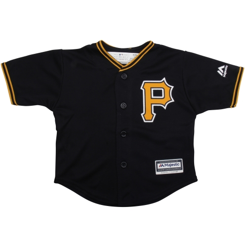 Pittsburgh Pirates Majestic Toddler Official Cool Base Jersey - Black