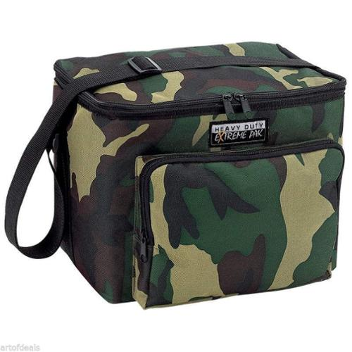 Lunch Bag Cooler Insulated Ice Chest Soda Beer Camouflage Tote Bag Water Resist Camo One Size