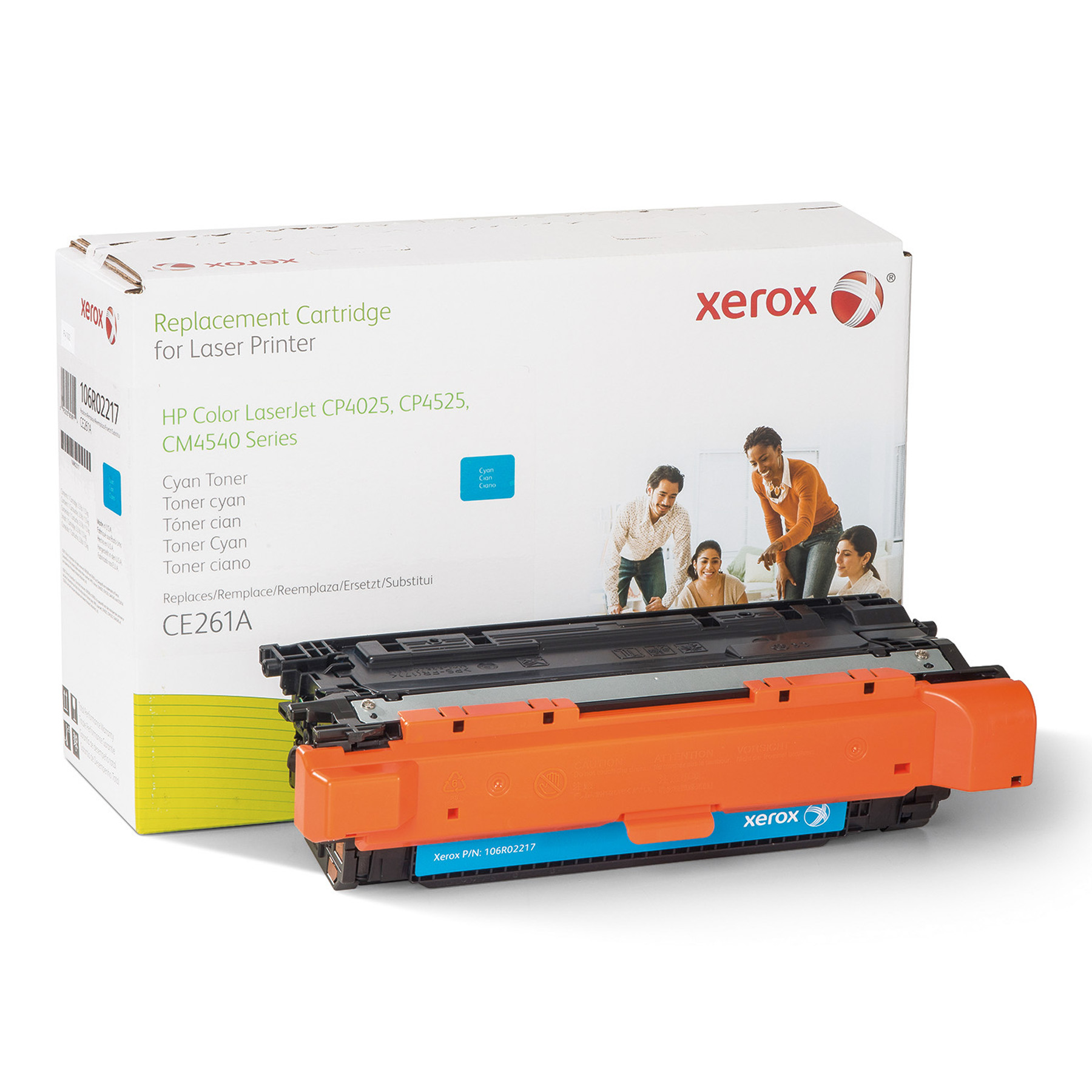 Xerox 106R2217 Replacement Toner for CE261A, 12700 Page Yield, Cyan