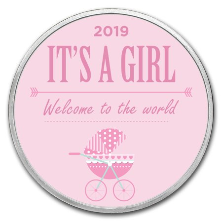 1 oz Silver Colorized Round - APMEX (2019 Baby Girl (Best Rated Strollers 2019)