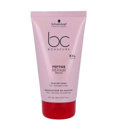 BC Bonacure by Schwarzkopf Repair Rescue Sealed Ends 150ml, Peptide Repair Rescue Sealed Ends instantly seals split ends and prevents them from occurring. By Schwarzkopf BC REPAIR