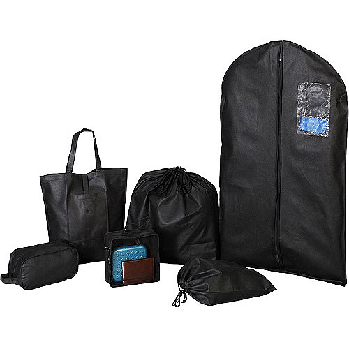 Protege 6-Piece Travel Bag Set, Black