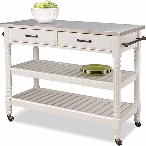 Gentil Home Styles Savannah White Kitchen Cart
