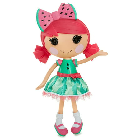 Large Doll- Water Mellie Seeds, Lalaloopsy large doll Water Mellie Seeds is dressed in a colorful outfit mad out of watermelon seeds By Lalaloopsy Ship from