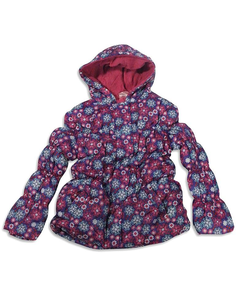 Pink Platinum - Baby Girls Hooded Floral Parka Jacket Purple Floral / 12 Months