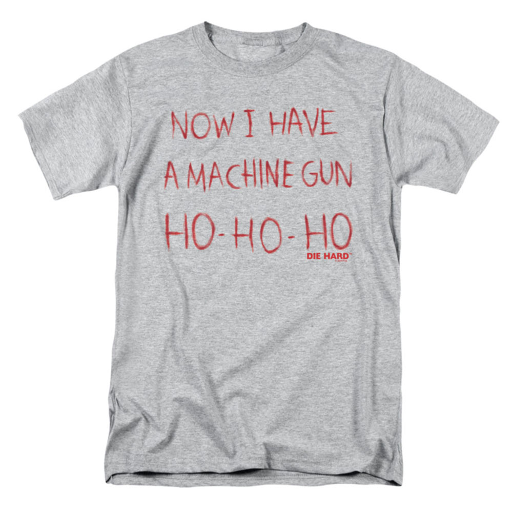 Die Hard Men's  Machine Gun T-shirt Gray