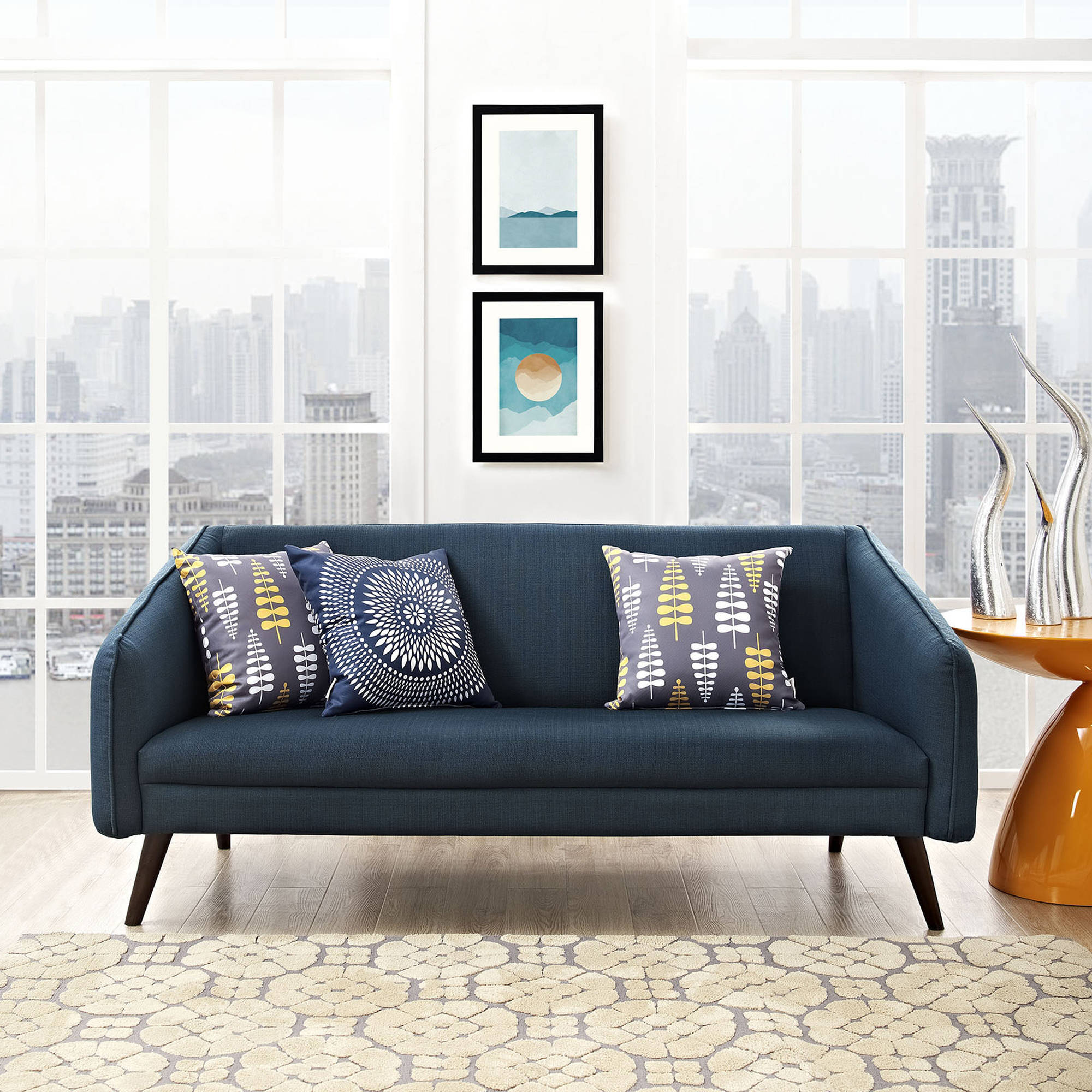 Modway Slide Contemporary Upholstered Sofa, Multiple Colors