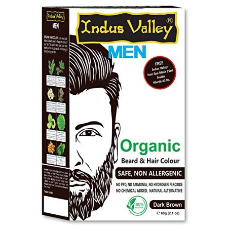 Indus Valley Organic Beard and Hair Colour Safe and non Allergenic Brown - Beard Dye Walmart